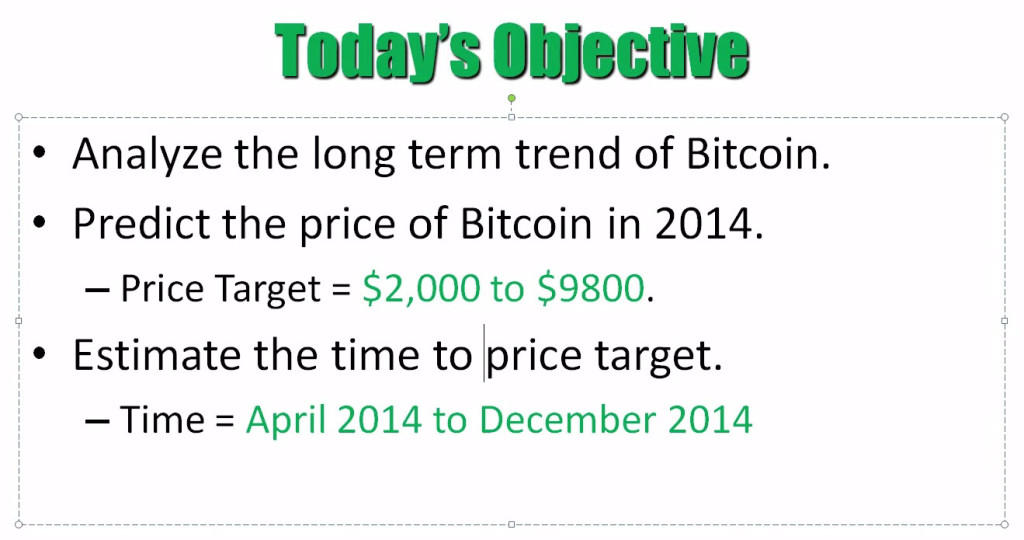 Tai Zen - Bitcoin Price Prediction For 2014