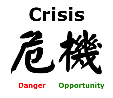 Prison Or Freedom - Chinese Symbol For Crisis