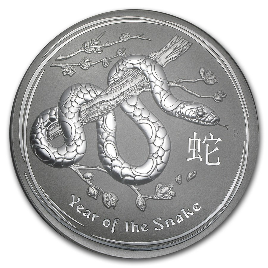 Prison Or Freedom - 2013 Silver Kilo Snake Coin (Front) - By Tai Zen