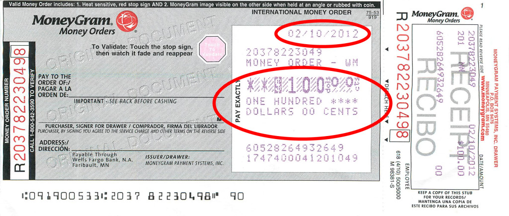 Prison Or Freedom - Moneygram's Ripoff $100 Money Order